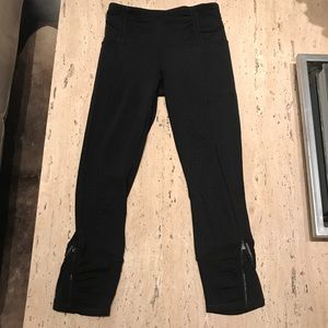 Lululemon Zip Crop Patterned Legging EUC 2